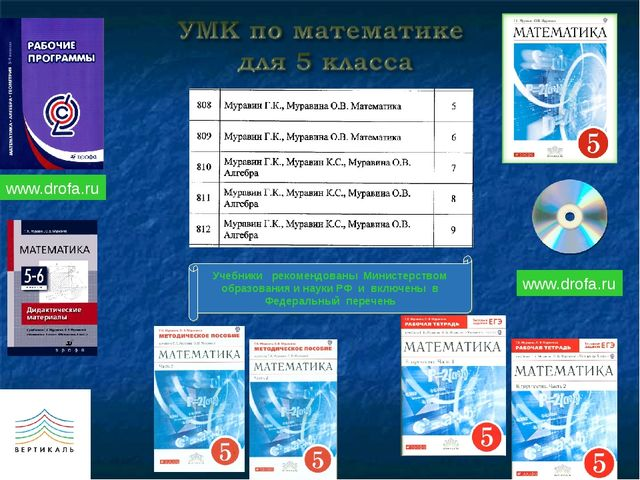 Учебники рекомендованы Министерством образования и науки РФ и включены в Феде...