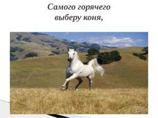 Самого горячего выберу коня,