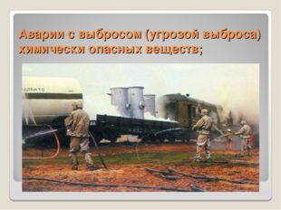 Аварии с выбросом (угрозой выброса) химически опасных веществ;