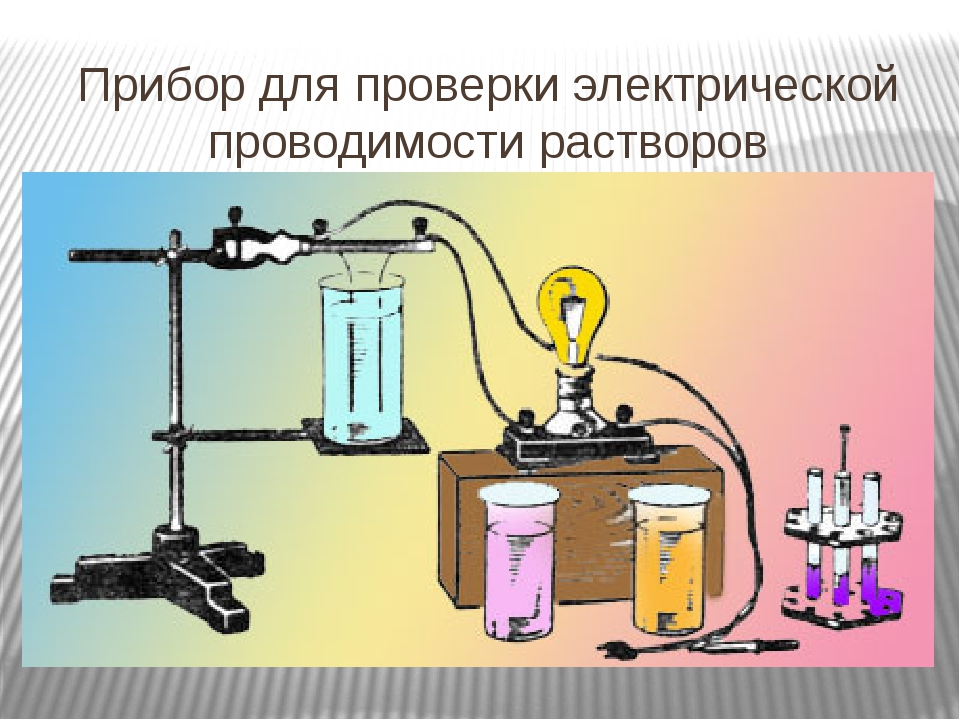 Прибор для проверки электрической проводимости растворов