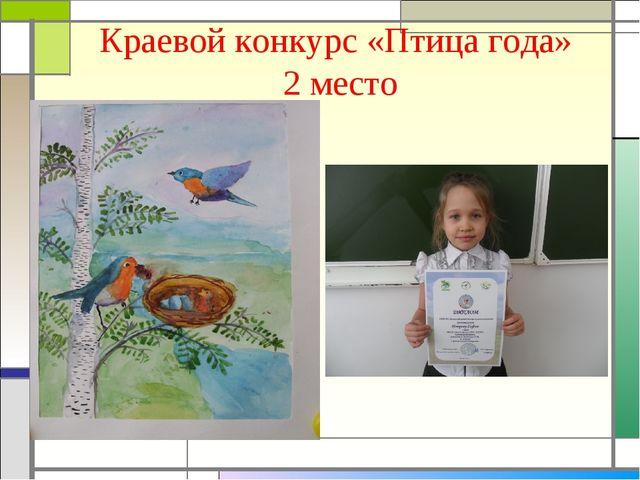Краевой конкурс «Птица года» 2 место