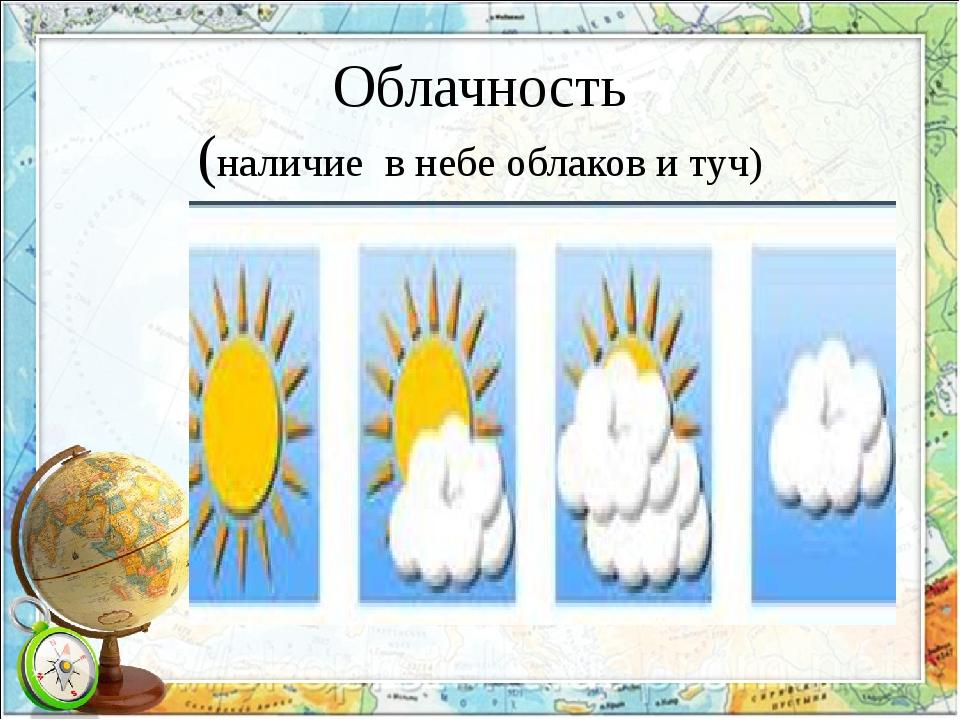Облачность (наличие в небе облаков и туч)