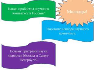 Какие проблемы научного комплекса в России? Почему центрами науки являются Мо