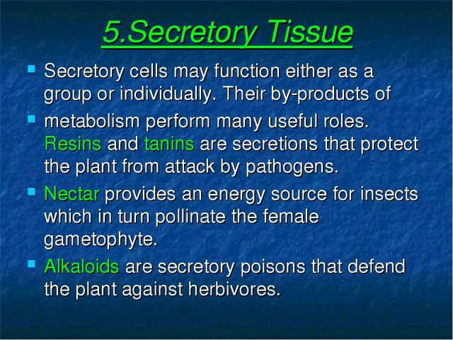 5.Secretory Tissue Secretory cells may function either as a group or individu...