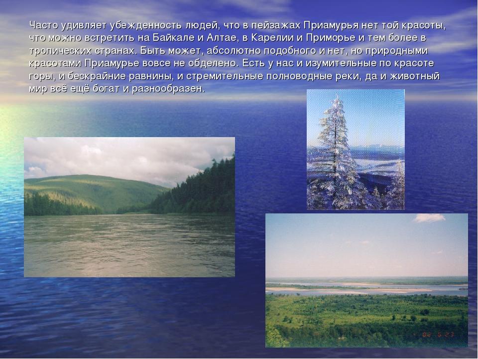 Часто удивляет убежденность людей, что в пейзажах Приамурья нет той красоты,...