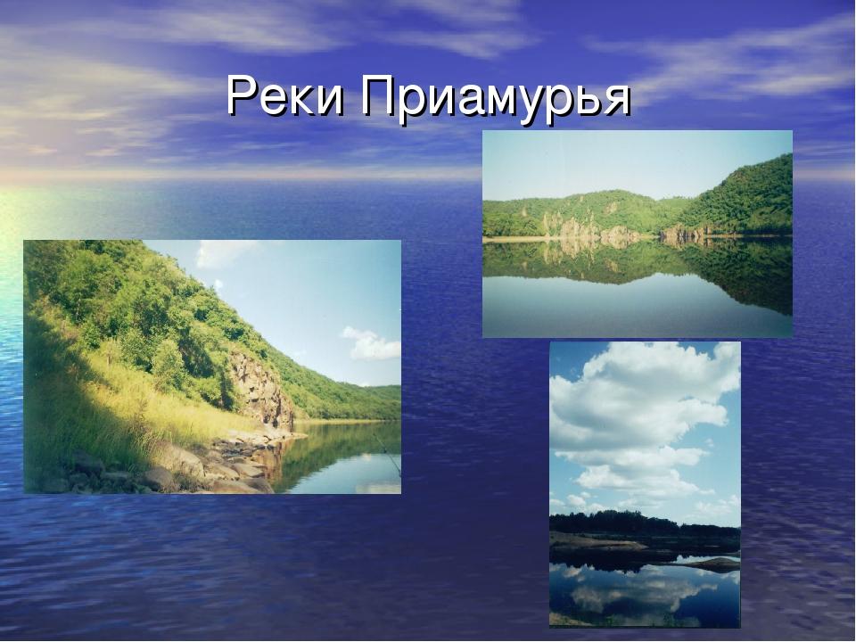 Реки Приамурья