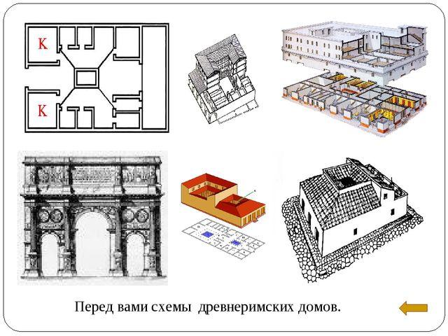 Перед вами схемы древнеримских домов.
