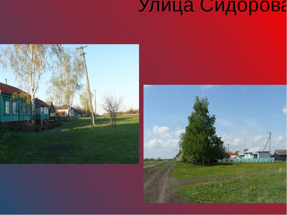 Улица Сидорова