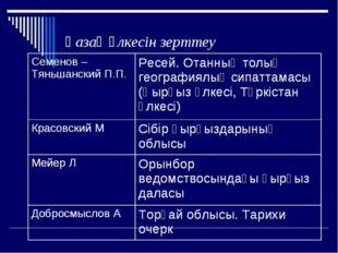 Қазақ өлкесін зерттеу Семенов – Тяньшанский П.П. Ресей. Отанның толық геогра