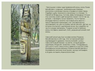 Прослышав о новом чуде привезенной иконы, князь Роман Михайлович с родными,