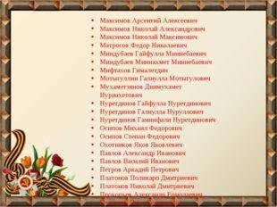 Максимов Арсентий Алексеевич Максимов Николай Александрович Максимов Николай