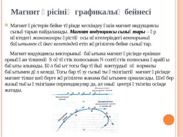 Магнит өрісінің графикалық бейнесі Магнит өрiстерiн бейне түрiнде кескiндеу ү...