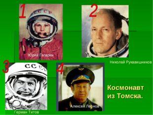 Космонавт из Томска. Юрий Гагарин Николай Рукавишников Алексей Леонов Герман