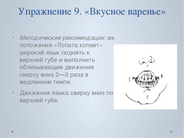 Упражнение 9. «Вкусное варенье» Методические рекомендации: из положения «Лопа...