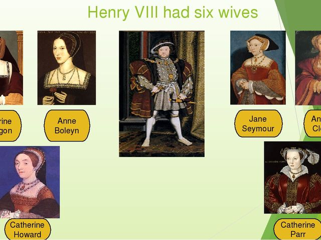 Henry VIII had six wives Catherine of Aragon Anne Boleyn Jane Seymour A...