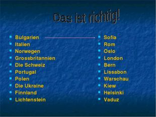 Bulgarien Italien Norwegen Grossbritannien Die Schweiz Portugal Polen Die Ukr