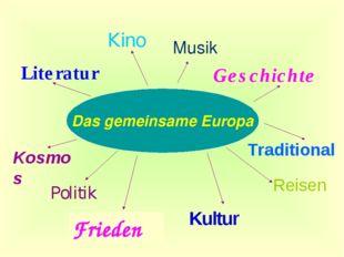 Das gemeinsame Europa Politik Kultur Traditional Literatur Musik Geschichte R