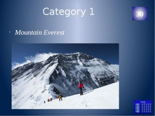 Category 1 Mountain Everest 30 Категория Ваш ответ