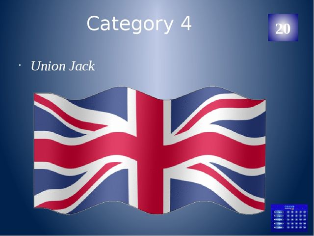 Category 5 John Kennedy 20 Категория Ваш ответ