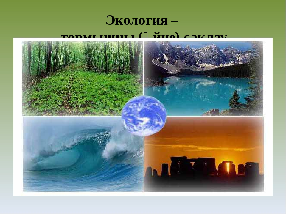 Экология – тормышны (өйне) саклау турындагы фән.