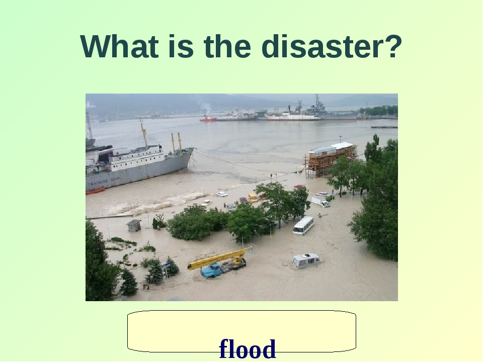 What is the disaster? flood