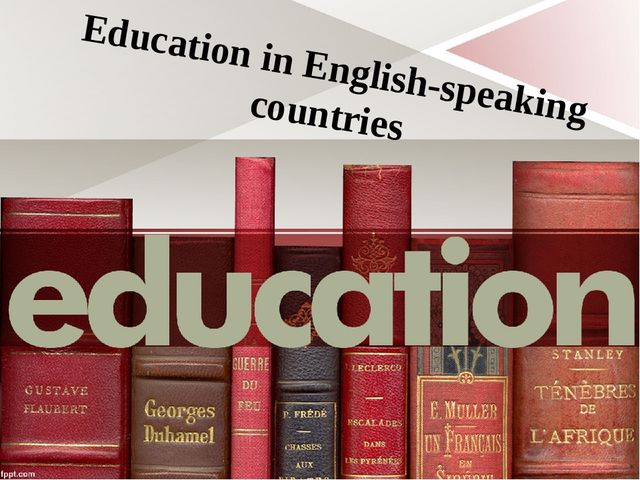 Education in English-speaking countries
