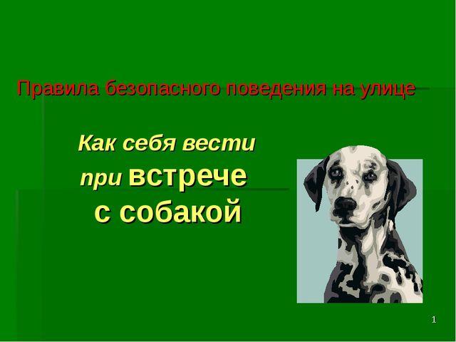 * Как себя вести при встрече с собакой Правила безопасного поведения на улице