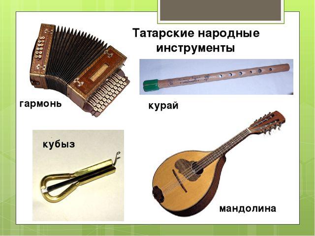 Татарские народные инструменты гармонь кубыз курай мандолина