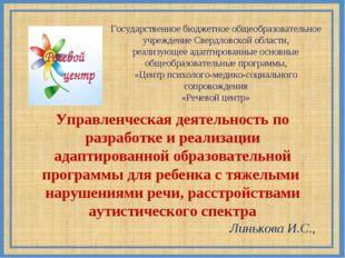 Государственное бюджетное общеобразовательное учреждение Свердловской области