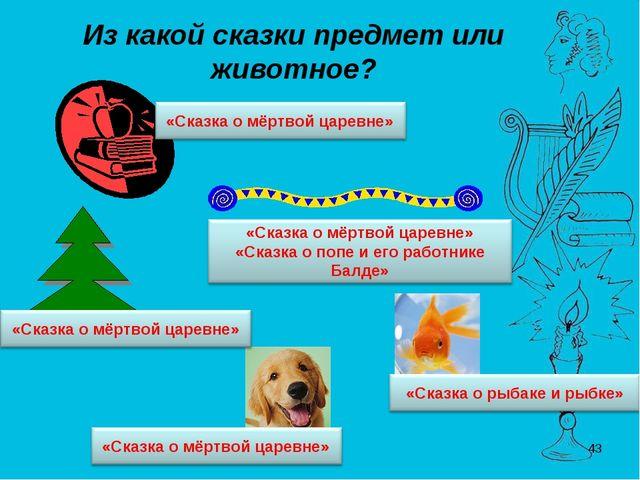 Из какой сказки предмет или животное? *
