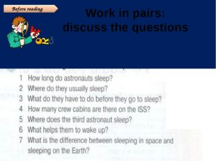 Work in pairs: discuss the questions Before reading