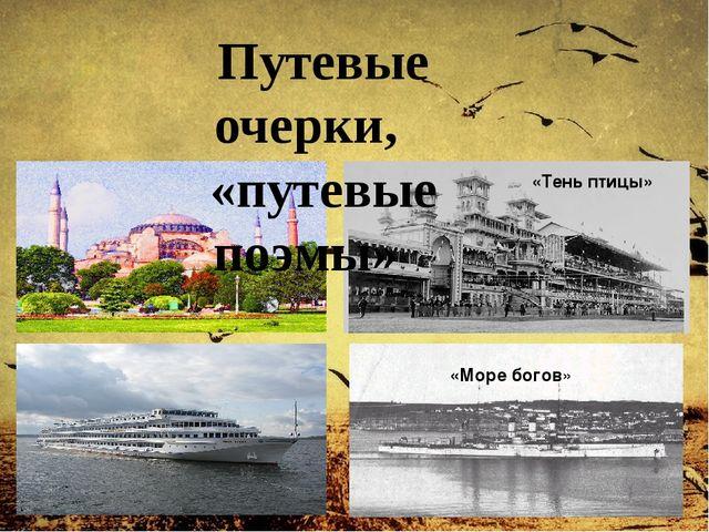 «Море богов» «Тень птицы» Путевые очерки, «путевые поэмы»