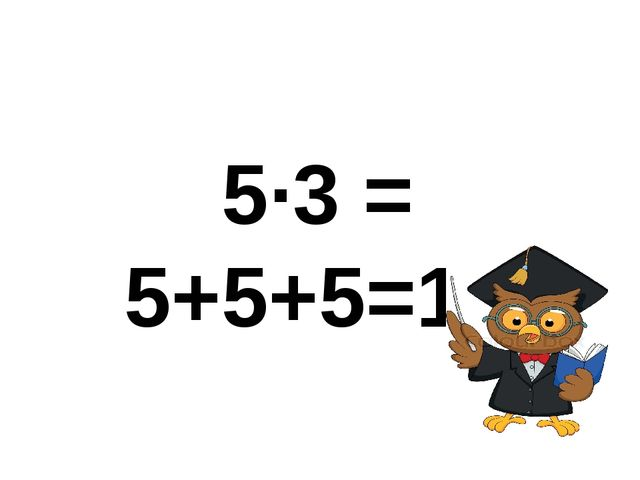 5∙3 = 5+5+5=15