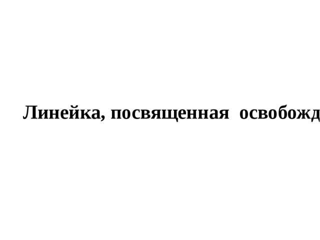 Линейка, посвященная освобождению города Миллерово