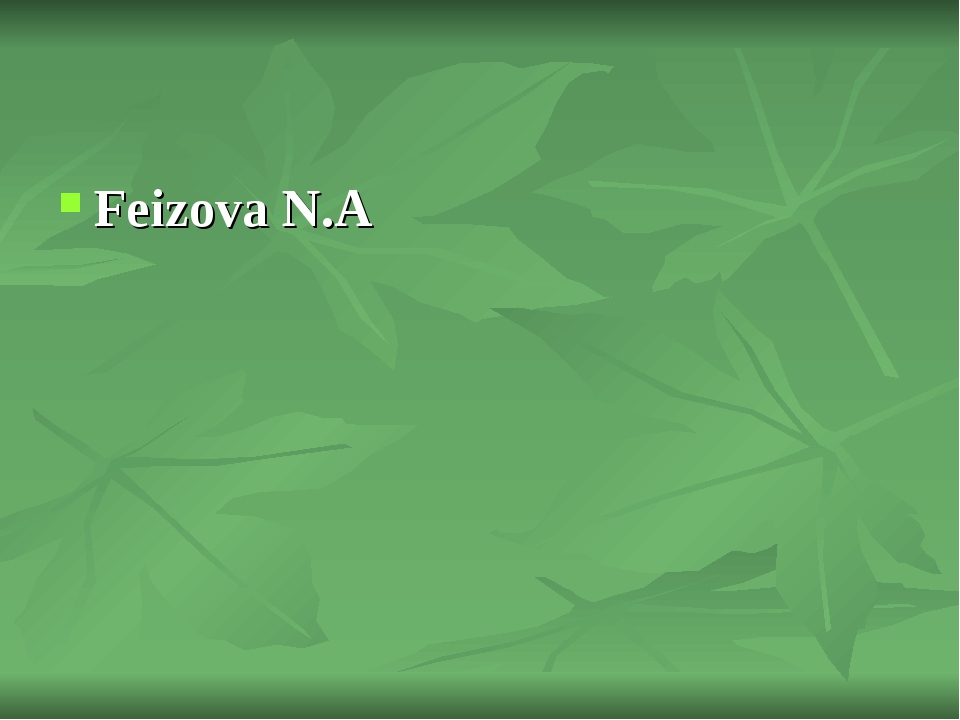 Feizova N.A