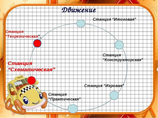 """"""""""" Станция """"Теоретическая"""". Станция """"Схематическая"""" Станция """"Практическая"""" Ст..."""