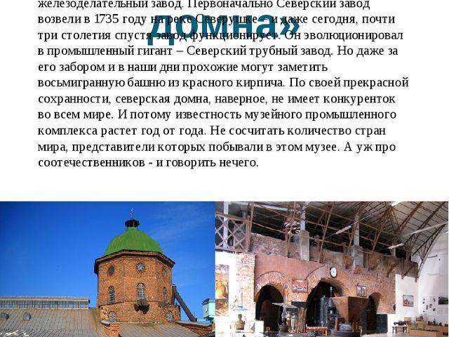 Комплекс «Северская домна» Этот исторический комплекс, расположенный в сев...