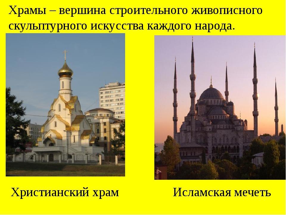 Храмы – вершина строительного живописного скульптурного искусства каждого нар...