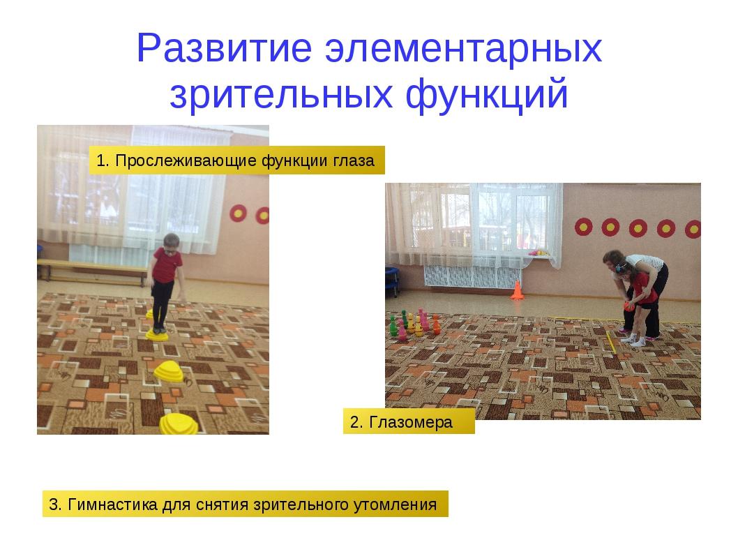 Развитие элементарных зрительных функций 1. Прослеживающие функции глаза 2. Г...
