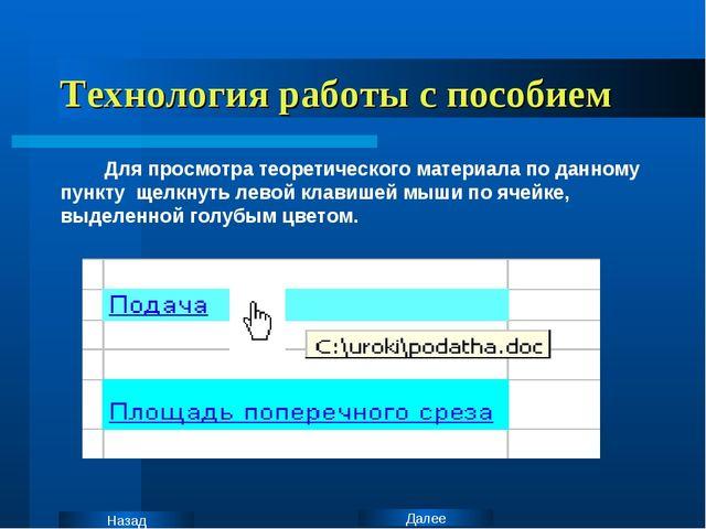 Технология работы с пособием Для просмотра теоретического материала по данном...