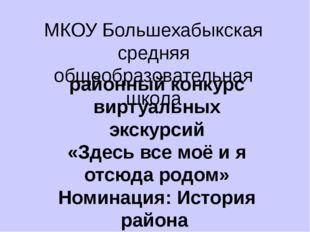 МКОУ Большехабыкская средняя общеобразовательная школа районный конкурс вирту