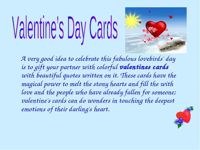 A very good idea to celebrate this fabulous lovebirds' day is to gift your p...
