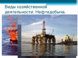 Виды хозяйственной деятельности. Нефтедобыча.