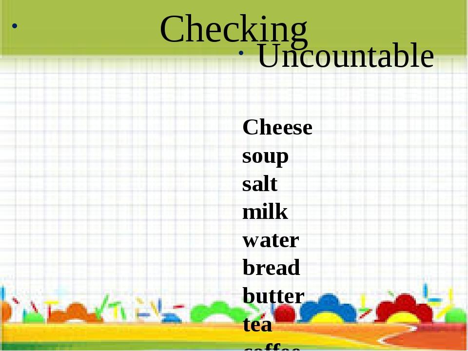 Checking Countable Egg apple banana tomato potato carrot orange Uncountable C...
