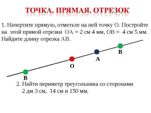 Начертите прямую, отметьте на ней точку О. Постройте на этой прямой отрезки О...