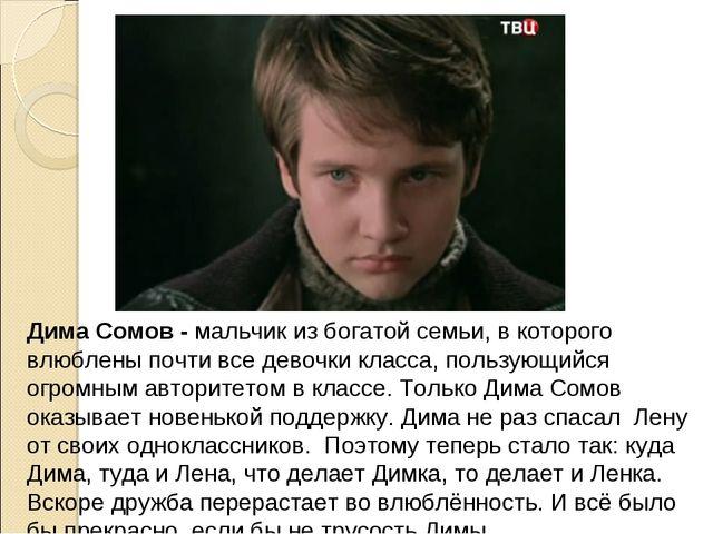 Дима Сомов - мальчик из богатой семьи, в которого влюблены почти все девочки...