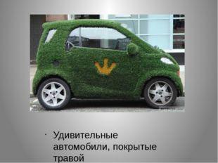 Удивительные автомобили, покрытые травой