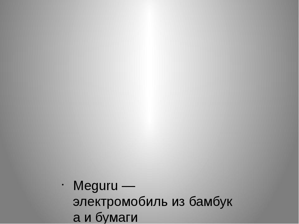 Meguru— электромобильизбамбукаи бумаги