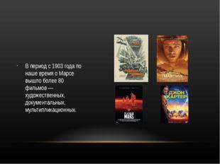 В период с 1903 года по наше время о Марсе вышло более 80 фильмов — художест