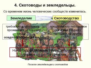4. Скотоводы и земледельцы. требовало длительного проживания на одном месте -